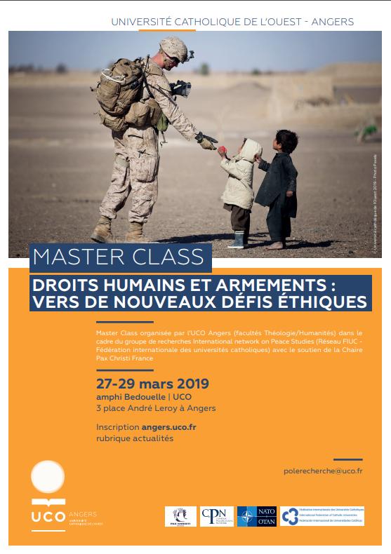 Master class de l'UCO : droits humains et armements : vers de nouveaux défis éthiques