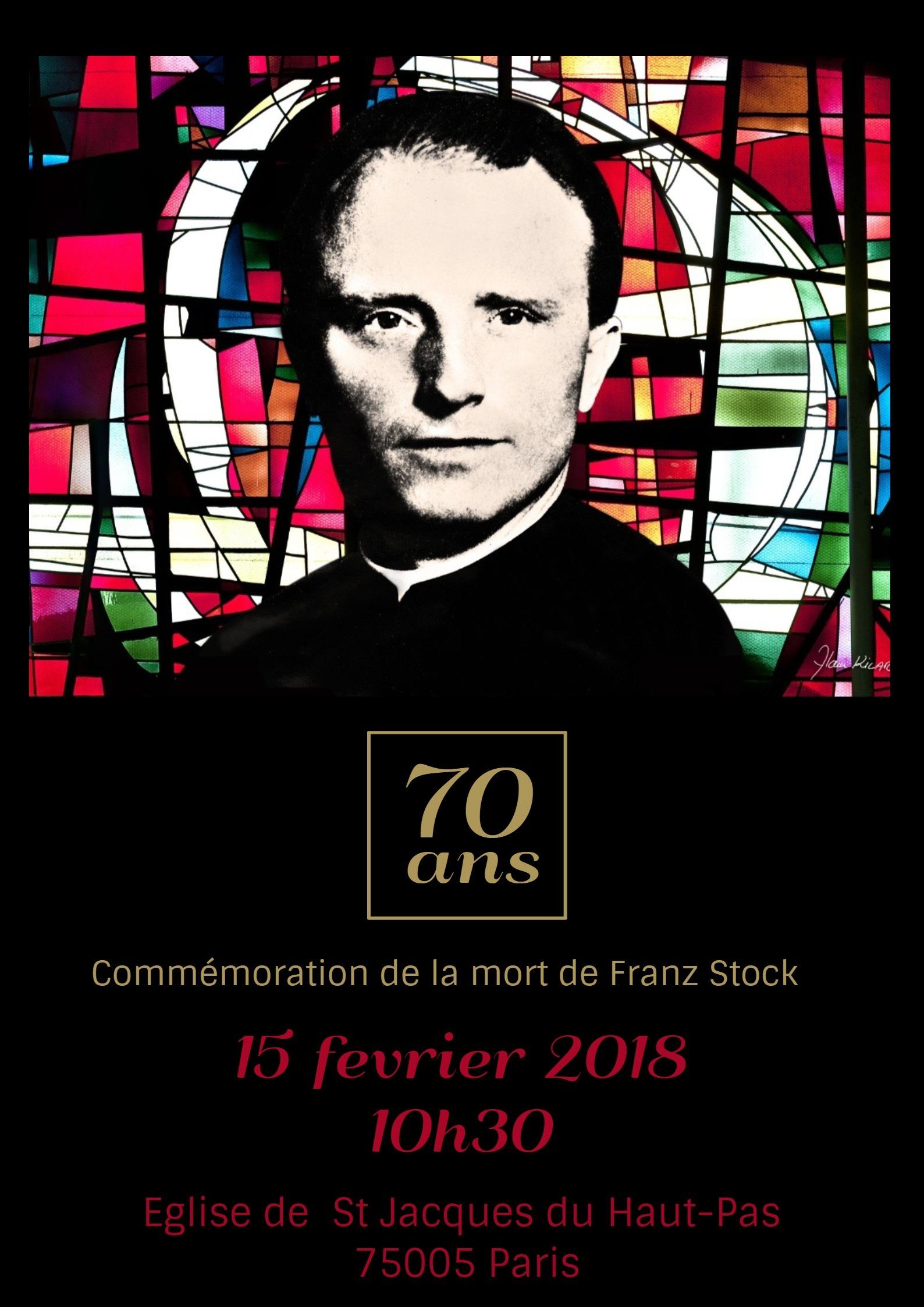 Commémoration des 70 ans de la mort de Franz Stock