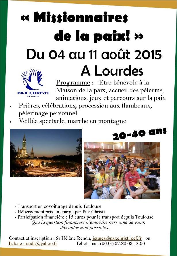 Lourdes 2015. Jeunes