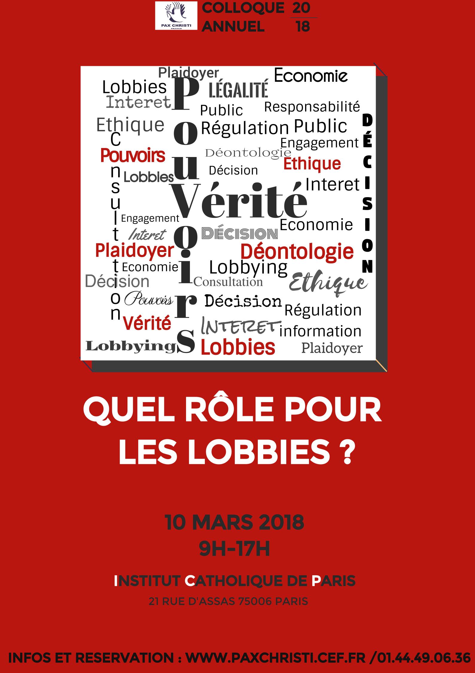 Vérité & Pouvoir quel rôle pour les lobby
