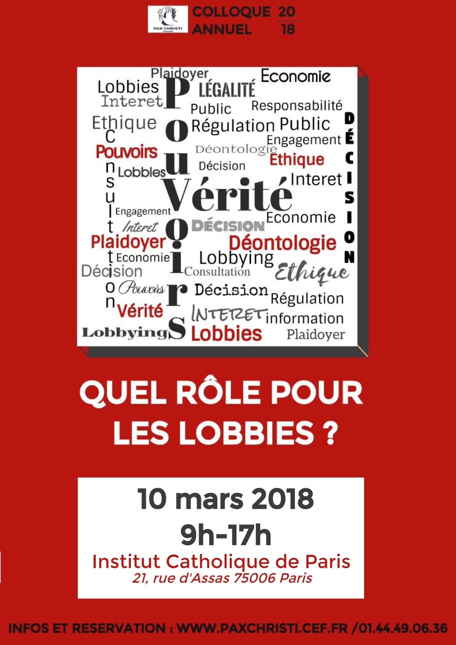 Vérité & Pouvoir quel rôle pour les lobbies